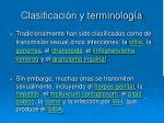 clasificaci n y terminolog a