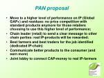 pan proposal