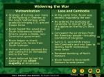 widening the war