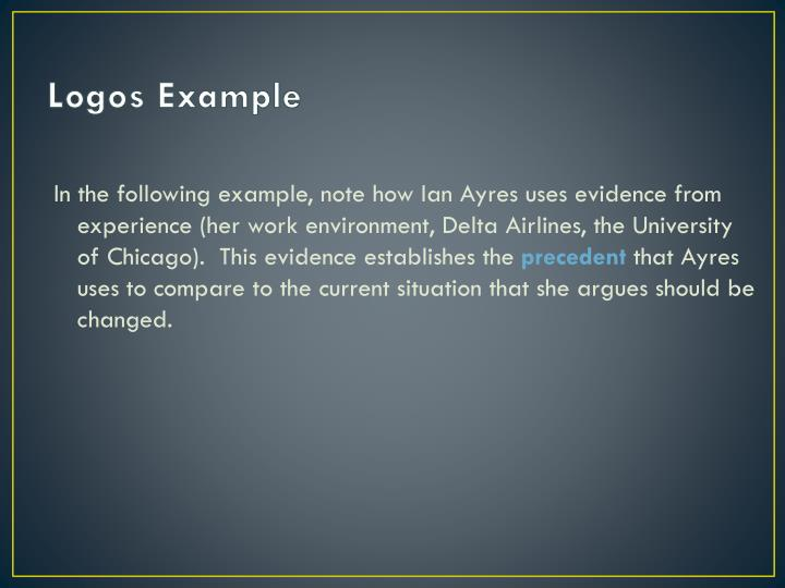 PPT - Ethos/Pathos/Logos PowerPoint Presentation - ID:5627275