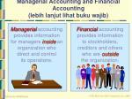 managerial accounting and financial accounting lebih lanjut lihat buku wajib
