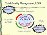 total quality management pdca