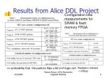 results from alice ddl project