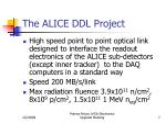 the alice ddl project