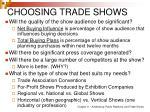 choosing trade shows