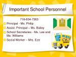 important school personnel