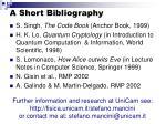 a short bibliography
