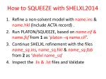 how to squeeze with shelxl2014