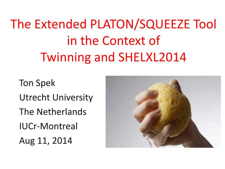 the extended platon squeeze tool in the context of twinning and shelxl2014 n.