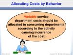 allocating costs by behavior1