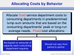 allocating costs by behavior2