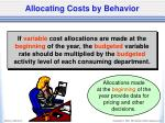allocating costs by behavior4