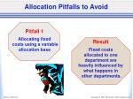 allocation pitfalls to avoid