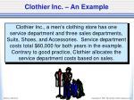 clothier inc an example