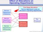 effect of allocations on operating departments1