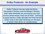 kolby products an example