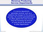 revenue producing service departments