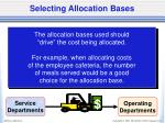selecting allocation bases