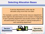 selecting allocation bases1