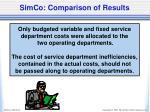 simco comparison of results1