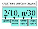 credit terms and cash discount1
