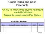 credit terms and cash discounts3