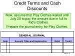 credit terms and cash discounts5