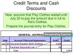 credit terms and cash discounts6
