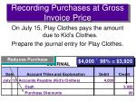 recording purchases at gross invoice price3