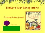 evaluate your eating habits