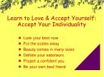 learn to love accept yourself accept your individuality
