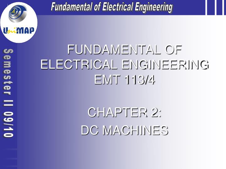 fundamental of electrical engineering emt 113 4 n.