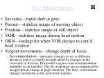 eye movements1