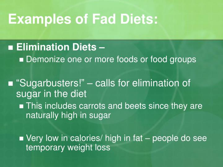 thesis statement fad diets The diet regime of intermittent fasting recently caught my attention when listening to an episode of this american life and then a close friend told me he's planning to switch from a low-carbohydrate diet to some form of intermittent fasting i got to wondering, though: are the health-benefit claims from.