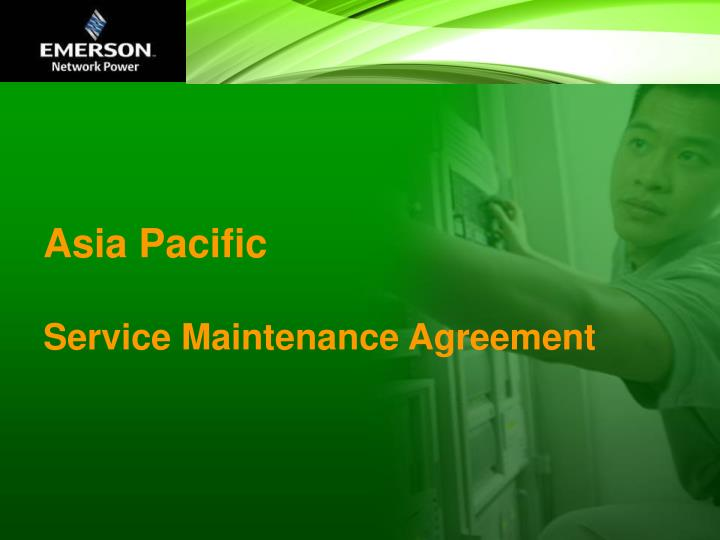 asia pacific service maintenance agreement n.