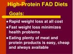 high protein fad diets