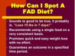 how can i spot a fad diet