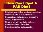 how can i spot a fad diet1