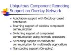 ubiquitous component remoting support on overlay network