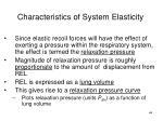 characteristics of system elasticity
