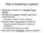 role of breathing in speech