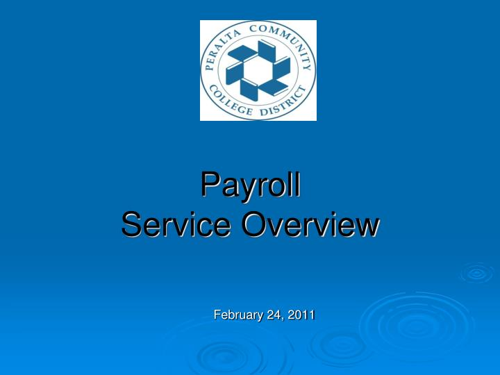 payroll service overview n.