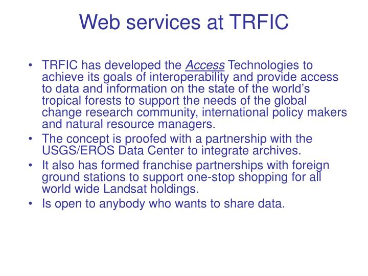 web services at trfic n.