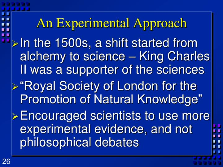 An Experimental Approach