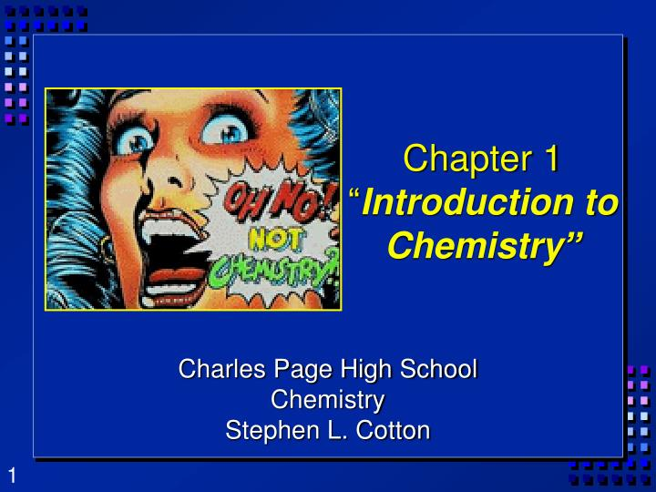 chapter 1 introduction to chemistry n.