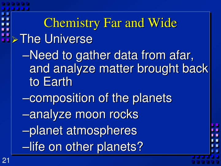 Chemistry Far and Wide