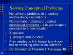 solving conceptual problems