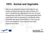 fats animal and vegetable