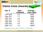 claims costs awards