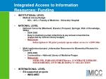integrated access to information resources funding